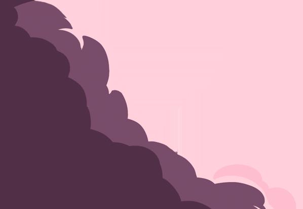 Purple Left Cloud